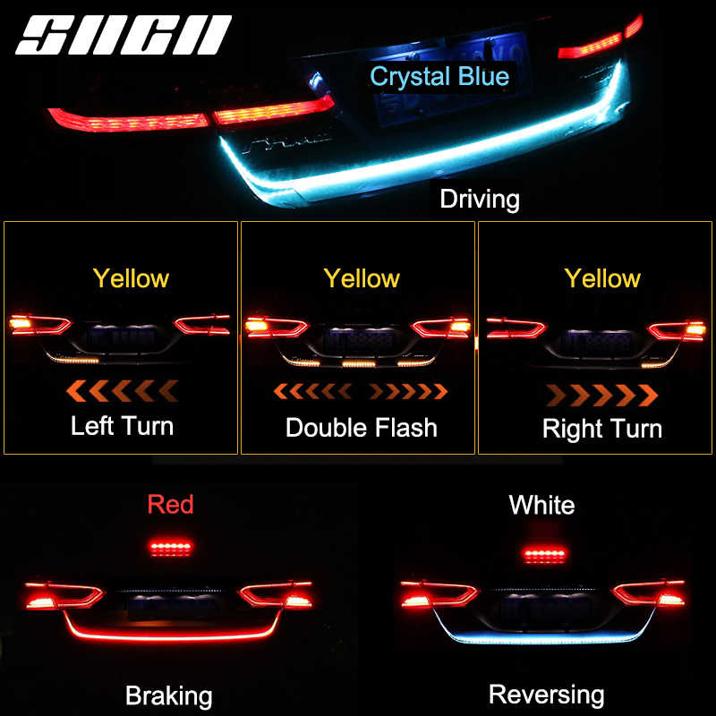 SNCN Trunk Strip Light LED Car Dynamic Streamer Tail Lights For Seat Ateca Ibiza Leon Toledo Luggage Compartment Light