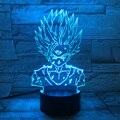 Figura dos desenhos animados Mesa de Mudança de Cor Da Lâmpada LED Noite Luz Lâmpada de Cabeceira Decorativo 3D Optical Illusion Lamparas Veilleuse Enfant