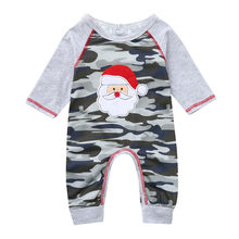 Infant Baby Boys Girls Unisex Christmas XMAS Santa Winter Thick Warm Cashmere Sweater Camouflage Romper Jumpsuit Outfits(China)