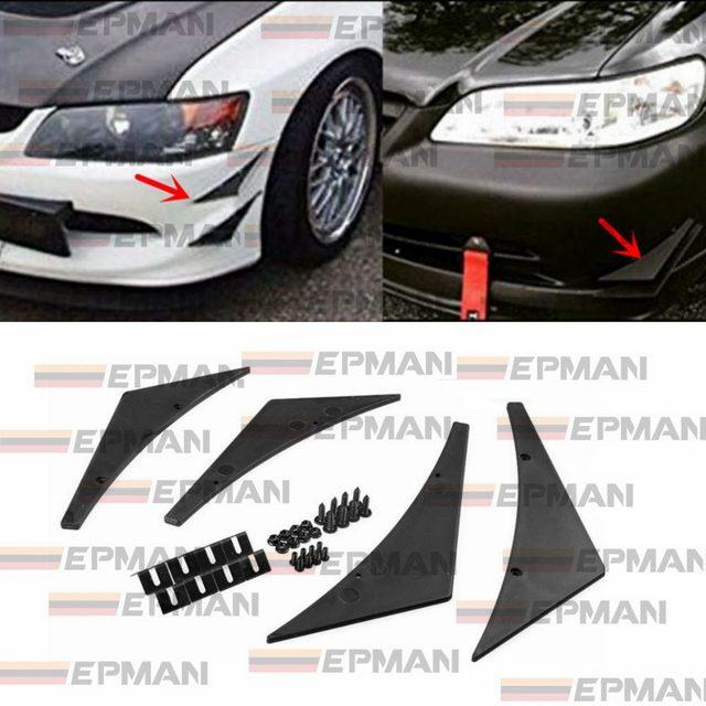 4x Universal Fit Vorne Auto Stil Frontschürze Lip Diffusor/Canard/Splitter EP-FD001