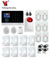 Yobang безопасности Android IOS APP сигнализация GSM домашняя безопасности Системы WI FI Беспроводной сигнализации дома окна/двери Сенсор газа утечки С