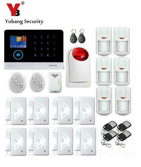 Yobang sécurité-Android IOS APP alarmes GSM système de sécurité à domicile WIFI sans fil maison alarme fenêtre/porte capteur de fuite de gaz capteur