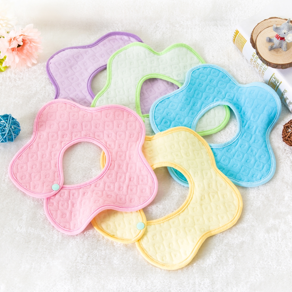 Hot selling Cute flower Cotton Baby Bibs Newborn Bandanas Feeding Baby Burp Cloths Girls Boys Saliva Towel cartoon Apron