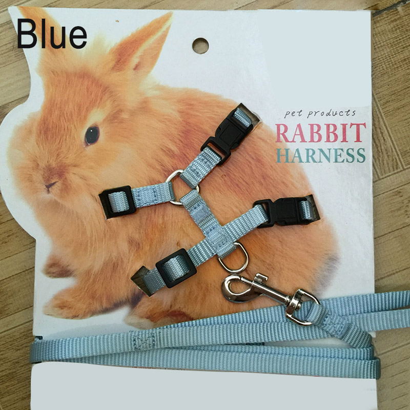 Pet Rabbit Soft Harness Leash Adjustable Bunny Traction Rope For Running Walking Store
