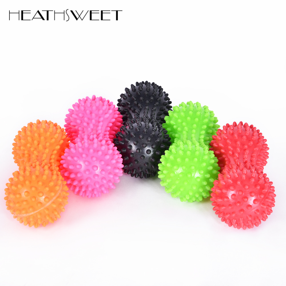 Galleria fotografica Healthsweet Peanut Shape Spiky Massage Ball PVC Trigger Therapy Stress Relief Massager Fitness Relieve Pain Tension Relax Muscle
