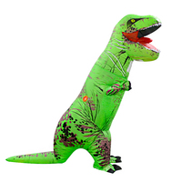 Green Dinosaur Costume Halloween T rex Jumpsuit Christmas Party Dress Russia Holiday Inflatable costumes for Woman