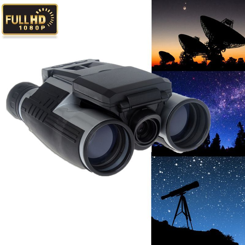Free shipping!2 Screen HD 1080P Video DVR Recording 12X32 Digital Telescope Binoculars Camera 2 lcd screen cmos hd 720p usb digital binocular telescope 96m 1000m zoom telescopio dvr binoculars photo camera video recording