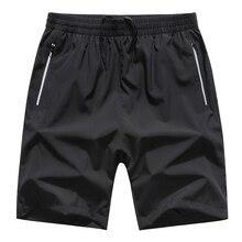 3cd3667af50 Fast Dry Short Plus Size Men Summer Holiday Beach Wear Fifth Length Short  Solid Color Black