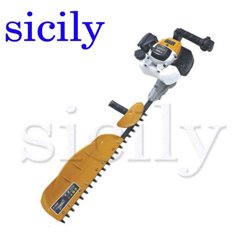 SICILY Single blade Hedge machine, Hedgerow clipper, gasoline tea tree leaf pruning machine, two stroke pruning machine LJ7510F