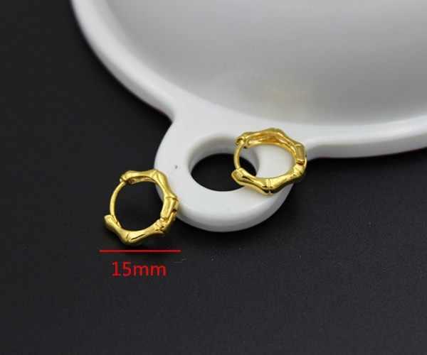 2 pares de joyas marca única moda Punk Rock oro pequeño círculo aro pendientes para mujer joyería