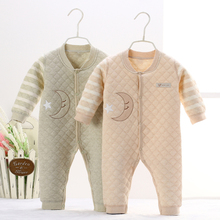 Newborn Baby Cotton Warm Thicken Baby Rompers Long Sleeve Natural Organic Winter Autumn Jumpsuit Top Quality