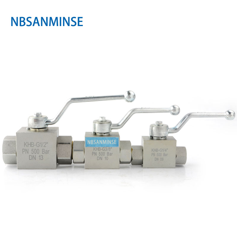 NBSANMINSE High Pressure Hydraulic Ball Valve KHB 1/8 1/4 3/8 1/2 Carbon Steel NPT G Manual Valve Engineer Industry On Off Valve