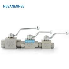 NBSANMINSE High Pressure Hydraulic Ball Valve KHB 1/8 1/4 3/8 1/2 NPT G Manual Valve Engineer Industry On Off valve цена