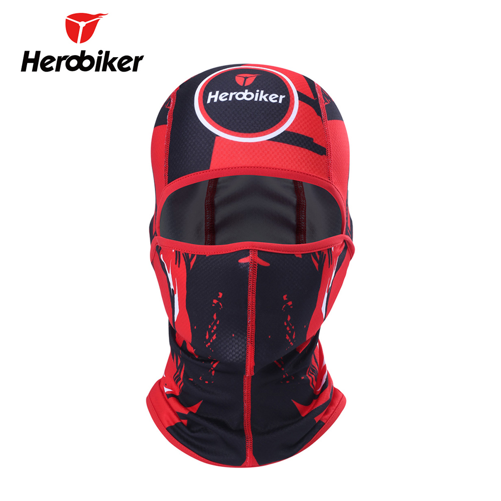 HEROBIKER Red Motorcycle Mask Balaclava Motorcycle Face Mask Windproof Mask Moto Breathable Airsoft Paintball Cycling Ski Mask