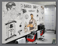 Beibehang Classic High Quality Waterproof Wallpaper European And American Tide Barber Shop Wall Papel De Parede