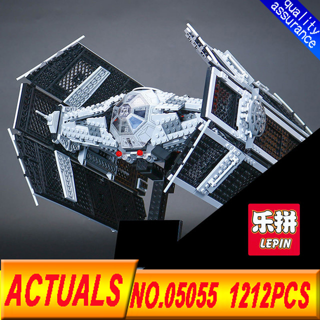 Lepin 05055 Star Series Wars The Rogue One USC Vader TIE Advanced Fighter Set 10175 Building Blocks Bricks Educational DIY Toys dhl lepin 05055 star series military war the rogue one usc vader tie advanced fighter compatible 10175 building bricks block toy