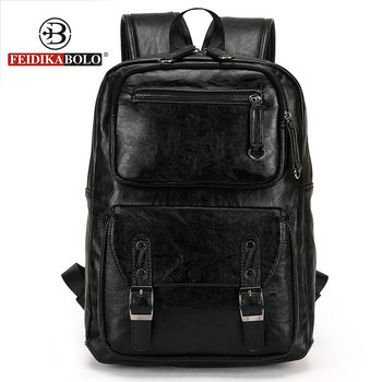 European and American style Solid high quality Genuine leather men backpack shoulder bag Schoolbag computer Travel bag 6002-F europe and the retro style men and women backpack genuine leather knapsack casual travel bag schoolbag packsack men bags