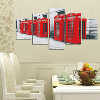 Fashion Telephone Booths Pictures Canvas Prints Home Decoration for Living Room Canvas Painting Print Cuadros No Frame FA238