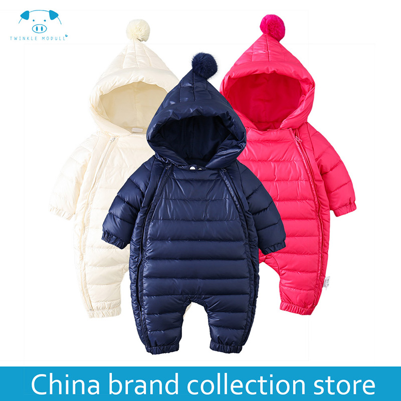[PlayFul100]romper newborn baby clothes baby winter rompers infant Newborn Baby Girls Boys Clothes Long sleeves Hooded MD150D033 newborn baby rompers baby clothing 100% cotton infant jumpsuit ropa bebe long sleeve girl boys rompers costumes baby romper