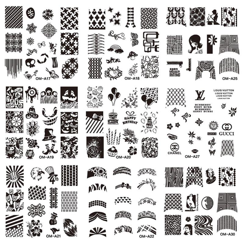 Free Printable Nail Art Template Stencilscute