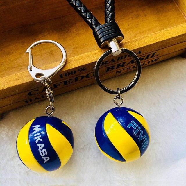 5 piezas de voleibol llavero cumpleaños de voleibol regalos de cumpleaños de voleibol fútbol superior pelota de playa, anillo de llave