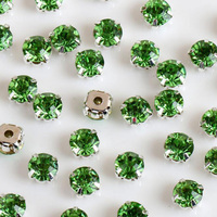2850 unidades 4mm plata Bases cose en piedra garras redondas suelta Diamantes con piedras falsas plateado ajuste chatons cristal Piedras para vestido