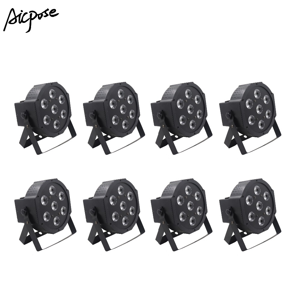 8Pcs/lots Led Par 7x12W RGBW 4in1 Par Led Light With dmx512 Control Disco Wedding DJ Stage Lighting Wall Washer8Pcs/lots Led Par 7x12W RGBW 4in1 Par Led Light With dmx512 Control Disco Wedding DJ Stage Lighting Wall Washer