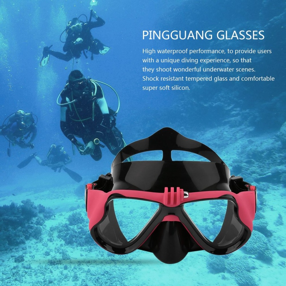 Professional Underwater Camera Plain Diving Mask Scuba Snorkel Swimming Goggles Suitable For Standard Sports Camera