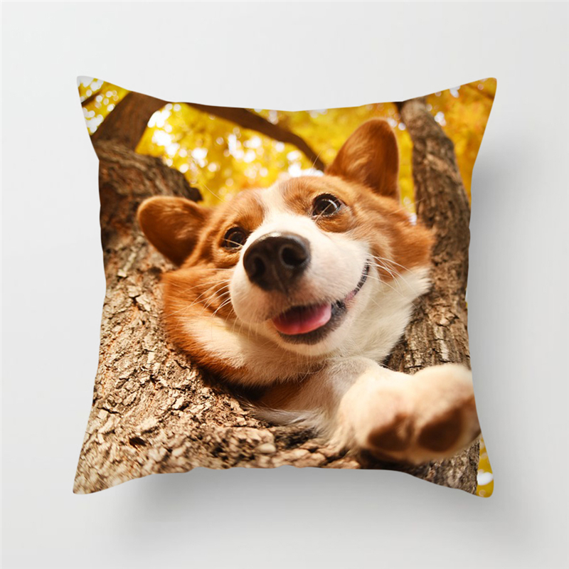 Fuwatacchi Dog Design Cushion Covers Bulldog Husky Alaskan 26 Styles Pets Pillow Cover For Home Sofa Bed Decorative Pillows in Cushion Cover from Home Garden
