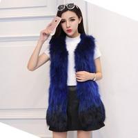 2018 Fashion Lady Real Raccoon Fur Vest New Women's Genuine Fur Winter Overcoat Warm Outerwear Raccoon Dog Fur Coat Jacket