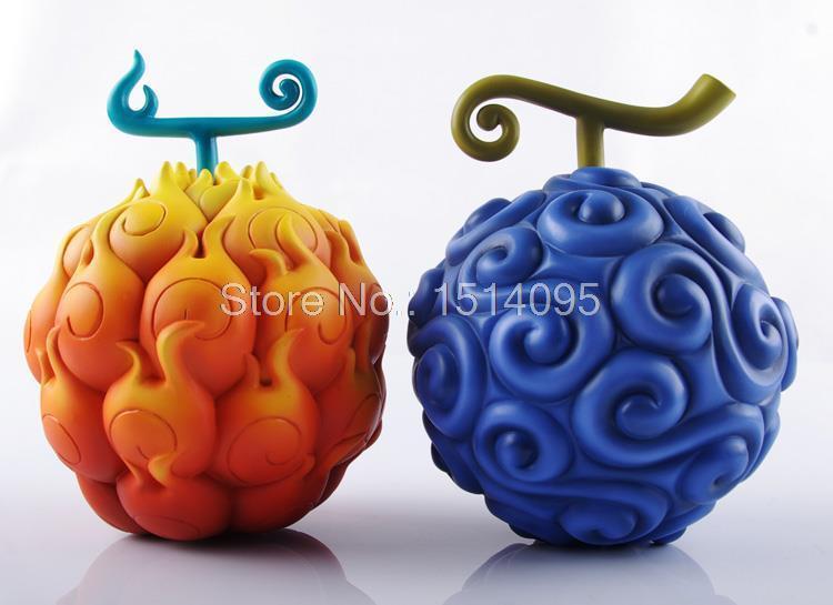 Anime One Piece Devil Fruit Ace Flame-Flame Fruit & Luffy Gum-Gum Fruit PVC Figures Collectible Toys