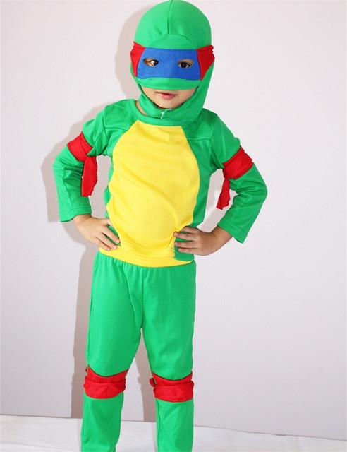 TMNT Traje Halloween Costume Crianças Role Play Cosplay Teenage Mutant Ninja Turtles Traje Anime Disfraces Carnaval