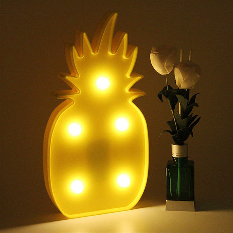 Pineapple Night Lamp 3D LED Night Light Table Lamp Light Up Baby Kid Night light LED Desk Lights Wedding Room Decoration Gift