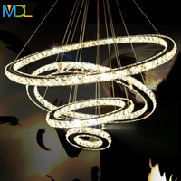 Modern Lustre Led Crystal Chandelier Lighting Ceiling Diamond Ring Lamp Lamparas Hanging Light Fixtures Suspension Luminaire