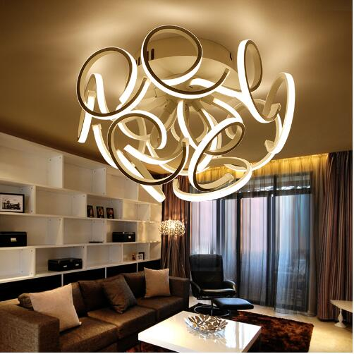 JCZ Modern Led ceiling lights dimming acrylic living room lamp plafond lamp living room 110-220V