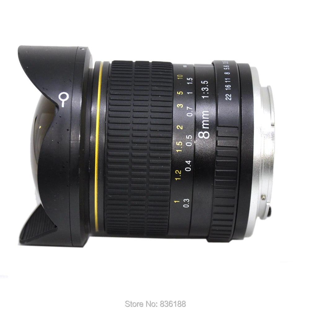 JINTU 8MM MARK II F/3.5 Super Wide Angel Lens For Canon EOS Camera EF 80D 77D 70D 7D 6D T7i T7s T6i T6 T5i T5