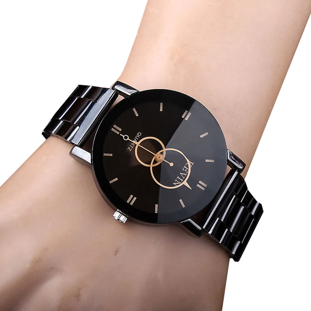 6d5a7baccb6 2017 Moda masculina De Quartzo Relógios de Marca Homens de Aço Militar  Esportes Dos Homens Criativos