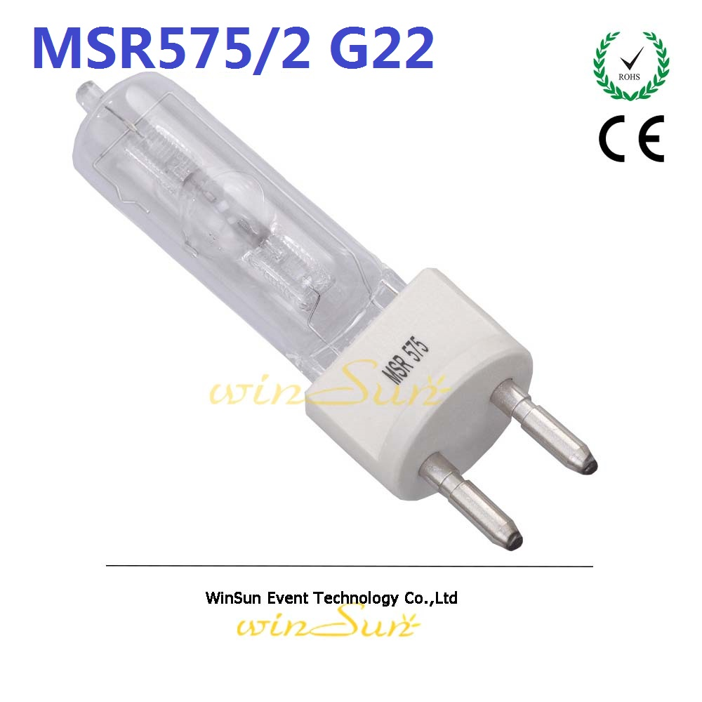 Litewinsune High Quality MSR575 HR G22 Scoket Projector Studio Lamp MSR 575 HR/P металлогалогенная лампа philips msr 575 hr g22
