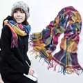 New Fashion Brand Women Scarf Colorful Plaid Cashmere Autumn Winter Scarf Luxury Thick Scarves for Women F013-1