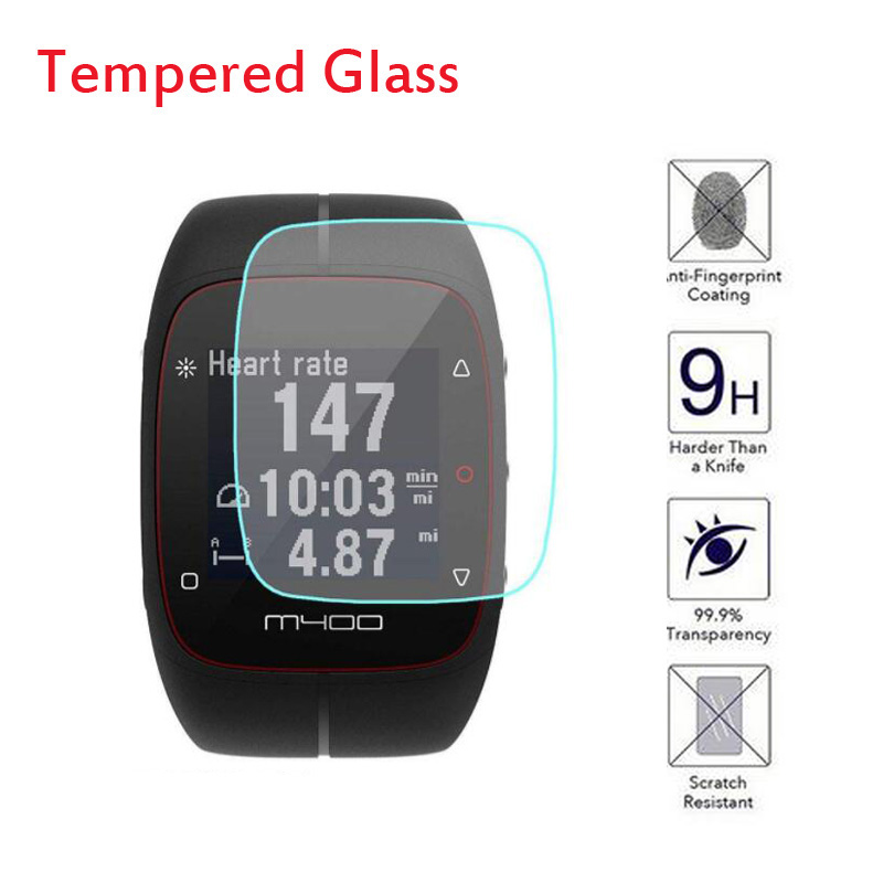Tempered Glass Clear Protective Film Guard For <font><b>Polar</b></font> M400 <font><b>M430</b></font> SmartWatch Sport Watch Toughened Full Screen Protector Cover image