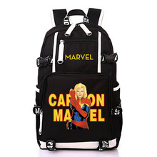 Marvel Comics Captain Marvel Super Hero Movie Backpack Student School Bags for Men Woman Rucksack Mochila Bag Backpack цена 2017