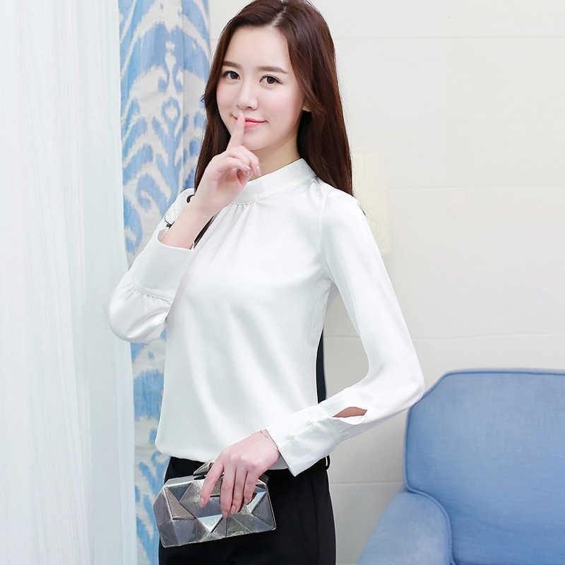 08df88893b5 ... 2019 Spring Korean Style Chiffon Blouse Female Long Sleeved Tops Shirt  Femininas Formal Ladies Tops Office ...