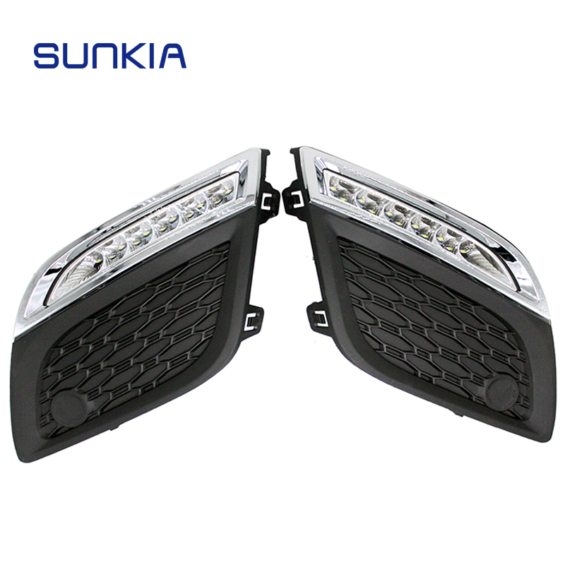 SUNKIA 12V High Bright Daytime Running Light Car Styling External DRL for Volvo XC60 2011-2013 with Dimmed Function