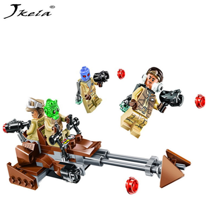 [Új] Star Wars Force Awakens Rebel Alliance Battle Pack akció Építőelemek Téglajáték Kompatibilis legoingly Starwars