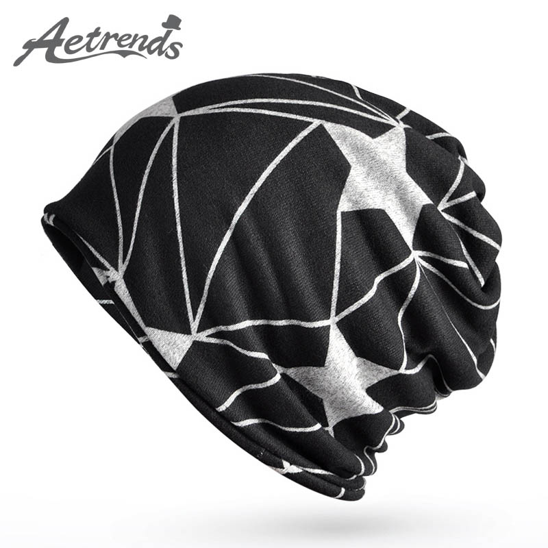 [AETRENDS] 2017 Multifunction Beanies for Men Women Baggy Skullies Cap Winter Warm Slouchy Hat Knitted Hip Hop Hats Z-5086 2017 winter women beanie skullies men hiphop hats knitted hat baggy crochet cap bonnets femme en laine homme gorros de lana