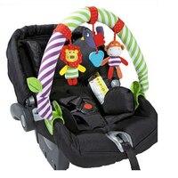 מכירה ישירה חיה פעמון רעשן תליית מחרטת מיטת תינוק חדש כותנה ילד קליפ המכונית עגלת תליית צעצועים WJ144