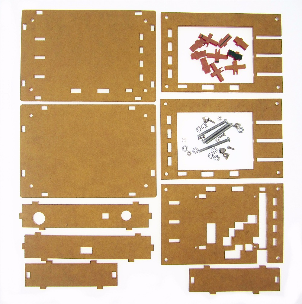 "Купить с кэшбэком DSO138 2.4"" TFT Handheld Pocket-size Digital Oscilloscope Kit DIY Parts + Acrylic DIY Case Cover Shell for DSO138"