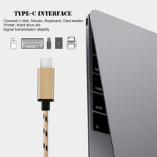 Nylon USB Type C OTG for Macbook 5 Gbps USB Type-C