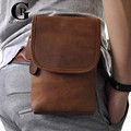 Cowhide! Designer Men Small Bags Messenger Bags Crazy Horse Leather Shoulder Small Fashion Crossbody Bag For Man Bags Waist Pack