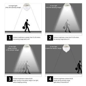Image 5 - Diodo emissor de luz da noite pir sensor de luz lâmpadas corpo movimento 220 v 230 v sensor de movimento led lâmpada escadas corredor iluminação 5 w 7 9 w 12 w 18 w